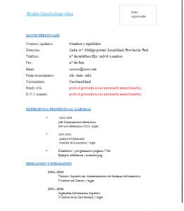 Imagen currículum vitae