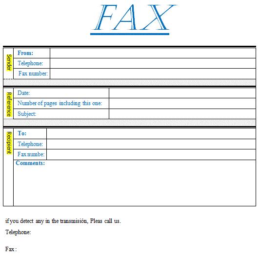 Formulario Fax en PDF