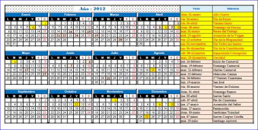 imagen calendario 2012